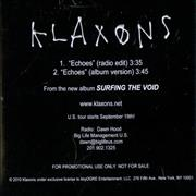 Click here for more info about 'Klaxons - Echoes'