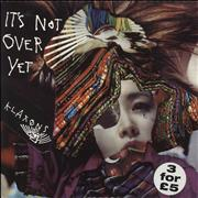"Klaxons It's Not Over Yet - Clear Vinyl UK 7"" vinyl"