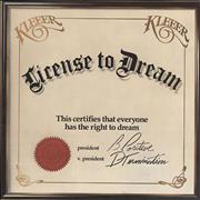 Click here for more info about 'Kleeer - License To Dream'