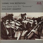 Click here for more info about 'Koeckert Quartet - Beethoven: String Quartet Op.59 No. 1