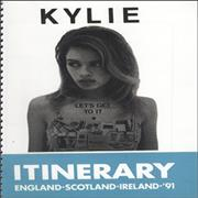 Click here for more info about 'Kylie Minogue - 1991 Tour Itinerary & Laminated Pass'