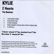 Click here for more info about 'Kylie Minogue - 2 Hearts - The Remixes - 5-track'