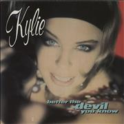"""Kylie Minogue Better The Devil You Know - wide-centred UK 7"""" vinyl"""