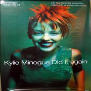 Kylie Minogue Did It Again UK poster Promo