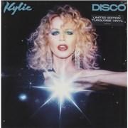 Kylie Minogue Disco - Turquoise Vinyl UK vinyl LP