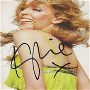 Click here for more info about 'Kylie Minogue - I Believe In You - Autographed Postcard'