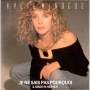 """Kylie Minogue Je Ne Sais Pas Pourquoi - Poster Sleeve UK 7"""" vinyl"""