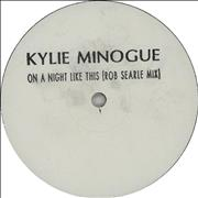 """Kylie Minogue On A Night Like This UK 12"""" vinyl Promo"""