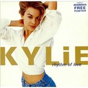 Kylie Minogue Rhythm Of Love + Poster UK vinyl LP
