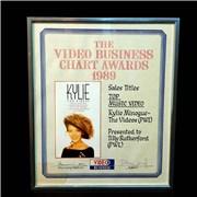 Kylie Minogue The Videos UK award disc
