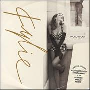 """Kylie Minogue Word Is Out - Etched - EX UK 12"""" vinyl"""