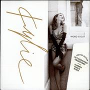 """Kylie Minogue Word Is Out - Etched UK 12"""" vinyl"""
