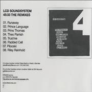 Click here for more info about 'LCD Soundsystem - 45:33 The Remixes'