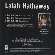 Click here for more info about 'Lalah Hathaway - That Was Then'