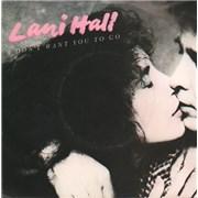 """Lani Hall I Don't Want You To Go - A-Label + P/S UK 7"""" vinyl Promo"""