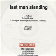Click here for more info about 'Last Man Standing - Nobody'