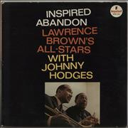 Lawrence Brown Inspired Abandon USA vinyl LP