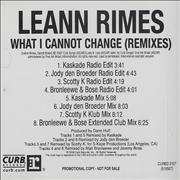 Click here for more info about 'Leann Rimes - What I Cannot Change - Remixes'