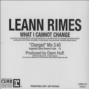 Click here for more info about 'Leann Rimes - What I Cannot Change'