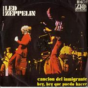 """Led Zeppelin Cancion Del Inmigrante Spain 7"""" vinyl"""