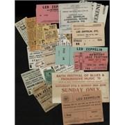 Led Zeppelin Collection Of Tour Flyers, Tickets & Programmes UK memorabilia