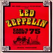 Click here for more info about 'Led Zeppelin - Earl's Court 75 + 23rd Ticket & Venue Layout Map'