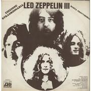 Led Zeppelin Led Zeppelin III - Provisional Sleeve Italy vinyl LP