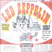 Led Zeppelin Physical Rocket UK memorabilia