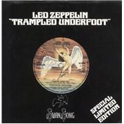 """Led Zeppelin Trampled Underfoot - VG+ UK 7"""" vinyl Promo"""