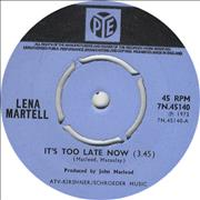 Click here for more info about 'Lena Martell - It's Too Late Now'