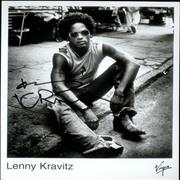 Click here for more info about 'Lenny Kravitz - Autographed Publicity Photograph'