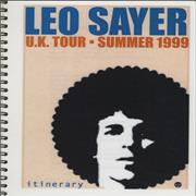 Click here for more info about 'Leo Sayer - UK Tour - Summer 1999 Tour Itinerary'