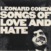 Click here for more info about 'Leonard Cohen - Songs Of Love And Hate - graduated orange'