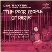 "Les Baxter The Poor People Of Paris UK 7"" vinyl"