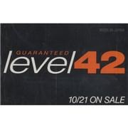 Level 42 Guaranteed Japan cassette album Promo