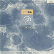 Click here for more info about 'Level 42 - It's Over - Postcard & Sticker Pack'