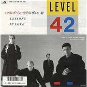 "Level 42 Lessons In Love Japan 7"" vinyl Promo"