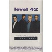 Level 42 Level Best UK cassette album Promo