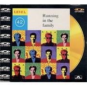 Level 42 Running In The Family - C.D. Video UK CD single