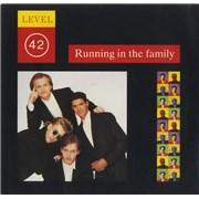 """Level 42 Running In The Family USA 7"""" vinyl"""