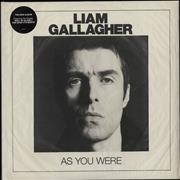 Liam Gallagher As You Were - White Vinyl + Sealed UK vinyl LP