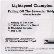 Click here for more info about 'Lightspeed Champion - Falling Off The Lavender Bridge - Album Sampler'