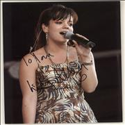 Click here for more info about 'Lily Allen - Autographed Photograph'