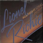 Click here for more info about 'Lionel Richie - All Night Long (All Night) - Solid - P/S'