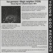 Click here for more info about 'Lisa Germano - Magic Neighbor'