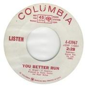 "Listen (60s) You Better Run USA 7"" vinyl Promo"