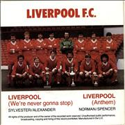 "Liverpool FC Liverpool [Anthem] - Red Vinyl - Picture Sleeve UK 7"" vinyl"