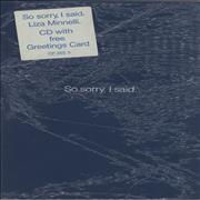 Click here for more info about 'So Sorry, I Said - Sealed'