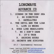 Click here for more info about 'Longwave - Secrets Are Sinister - Advance CD'