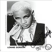 Click here for more info about 'Lonnie Gordon - Autographed Portrait Photograph'